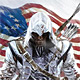 Assassin's Creed III set during the American Revolution; official box art / packshots inside