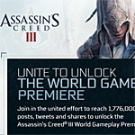 'Unite to Unlock' the world premiere gameplay trailer for Assassin's Creed III; AC3 teaser video inside!