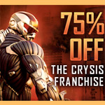 Get all Crysis games for 75% off this weekend through Steam