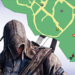 Assassin's Creed III Maps - Feathers, Viewpoints, Fast Travel, Almanac Pages, Trinkets, Treasure Locations, and more