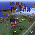 Minecraft recreation of Denmark bombed by American vandals