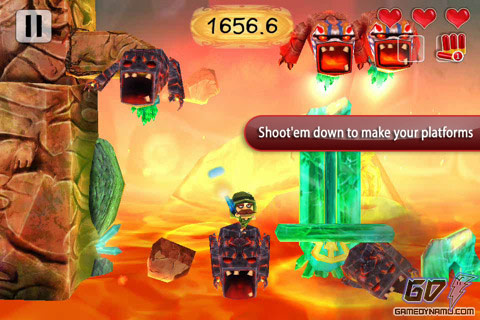 Volcano Escape (iPhone, iPod Touch, iPad) Review Screenshot