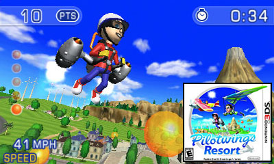 Nintendo 3DS Launch Games - Pilotwings Resort Review