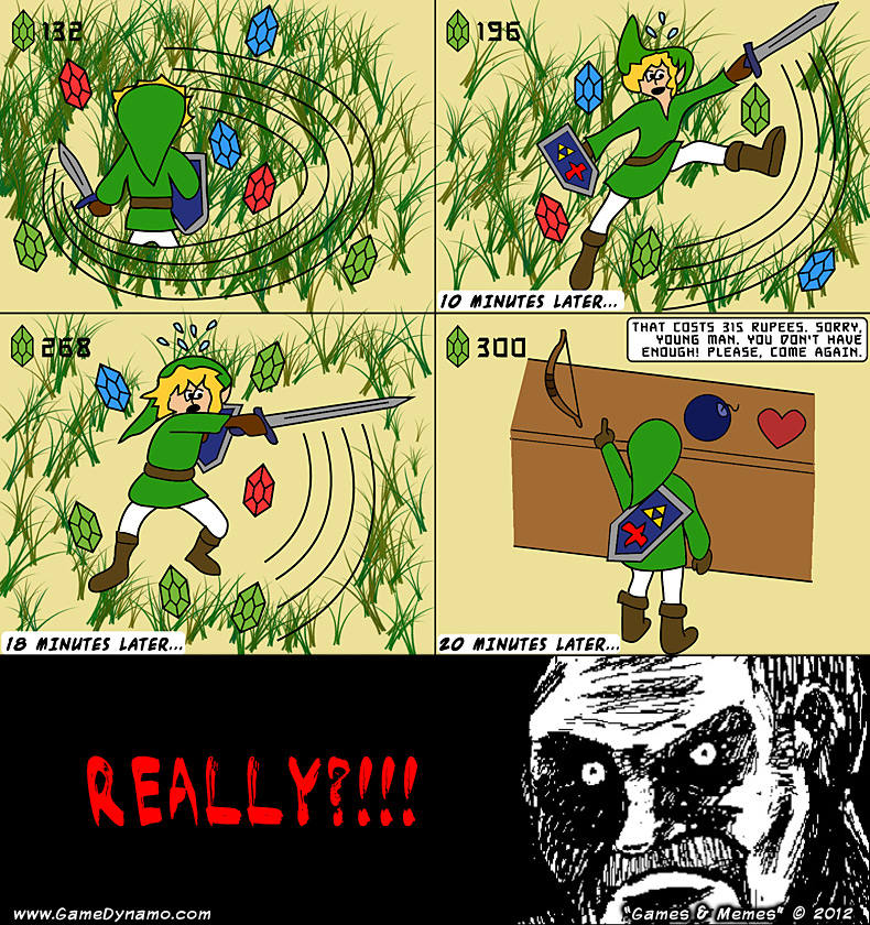 March 22  2012 -  quot  The Legend of Zelda    Link s Major Rupee HarvestZelda Memes