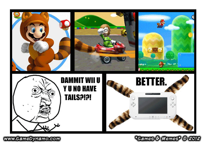 Games & Memes Comics: Wii U Power = Mario Kart Advanced
