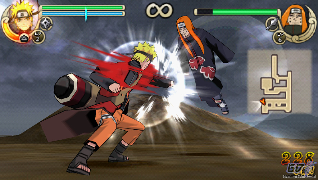 Screens Zimmer 5 angezeig: naruto ultimate impact psp