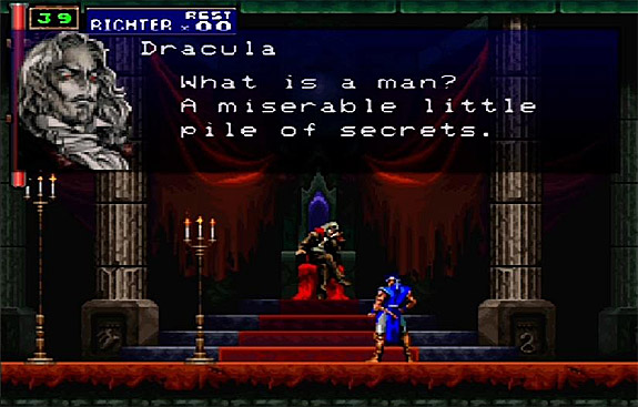 Castlevania: Symphony of the Night, Michael G as Dracula