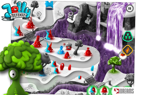 Jelly Defense (iOS - iPhone, iPad, iPod Touch and Android) Preview Screenshots