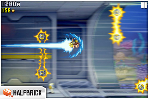Jetpack Joyride (iPhone, iPod Touch, iPad) Review Screenshots
