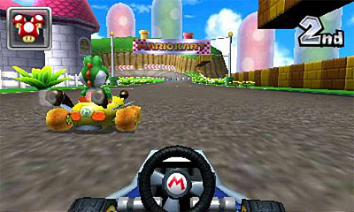 Mario Kart 7 (3DS) Guide: Tailgating your opponents gives you a speed boost