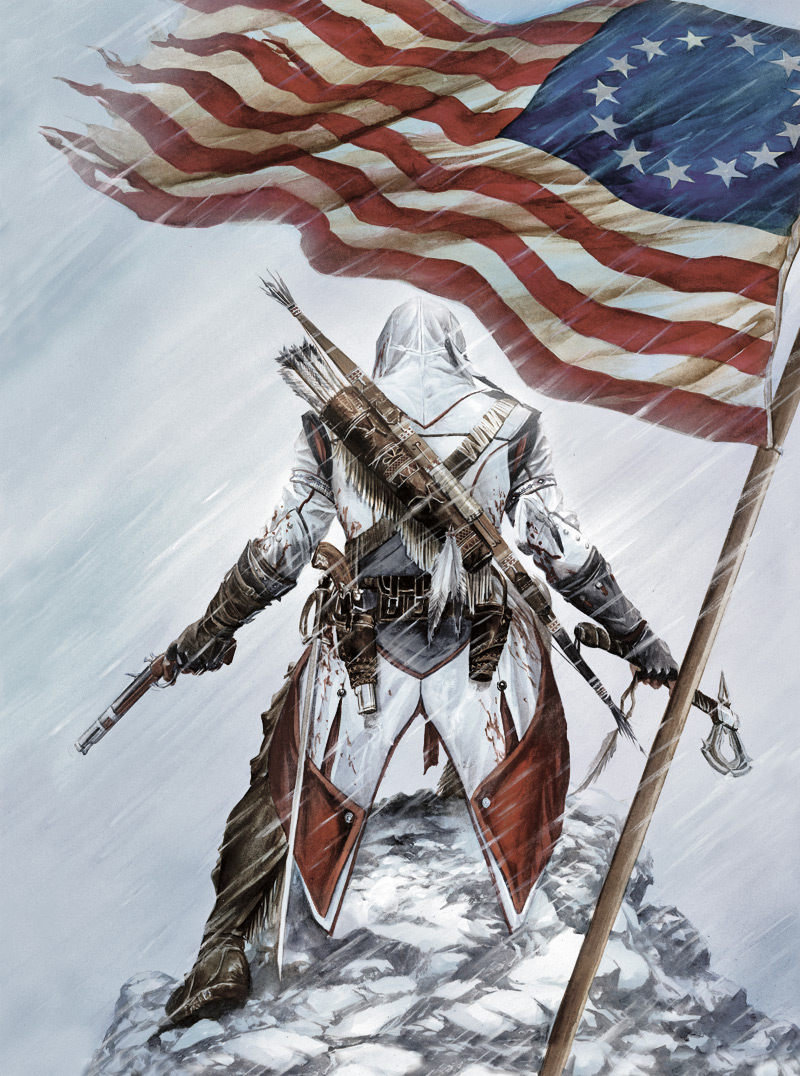 Assassin's Creed III Alex Ross collectible case art (Ubisoft, PC, PS3, Xbox 360, Wii U)