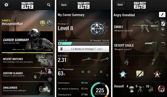 Call of Duty ELITE app for iOS and Android dated (iPhone, iPad, iPod touch)