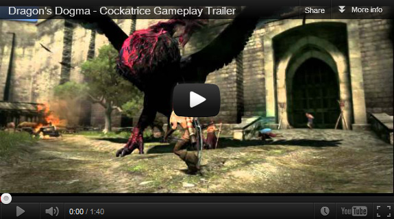 Dragon's Dogma demo date for Xbox 360 and PS3 and Cockatrice gameplay trailer (Capcom)