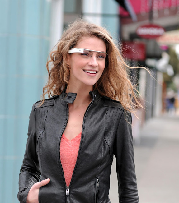 Google Project Glass prototype AR glasses for heads up display / HUD