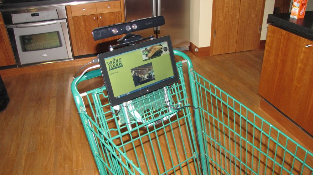 Microsoft Kinect grocery cart for Whole Foods