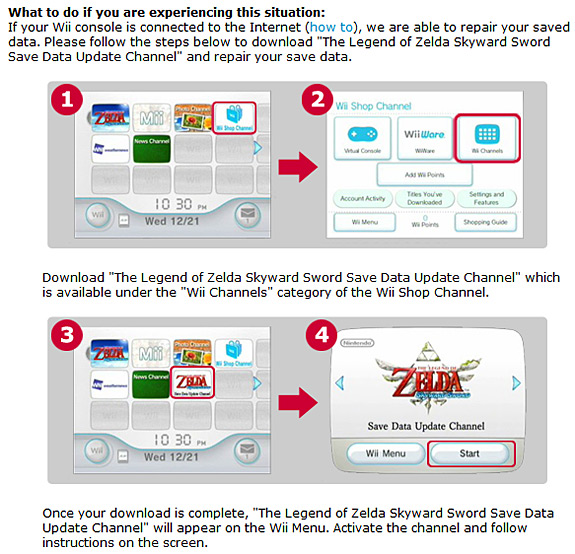 Zelda: Skyward Sword's bug-fix channel now available in all continents ! Nintendo-wii-zelda-skyward-sword-data-restoration-channel-news-2