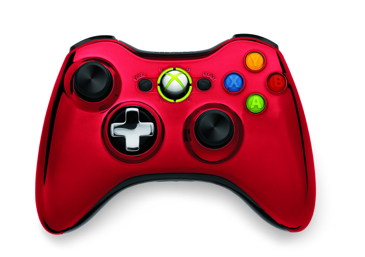 All Xbox 360 Controllers : Game news shiny new chrome series wireless controllers