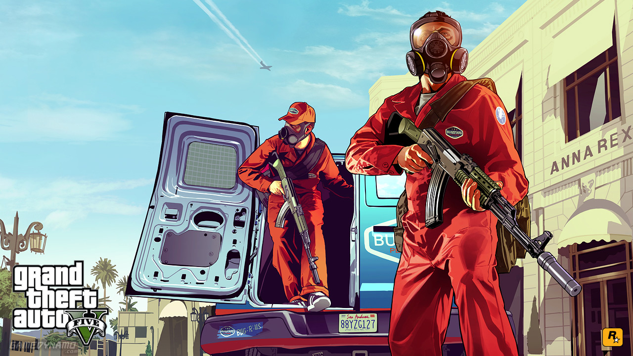 Rockstar Games reveals first GTA V artwork: 'Pest Control'
