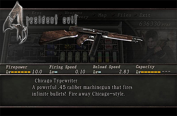 Resident Evil 4 Weapons Upgrades