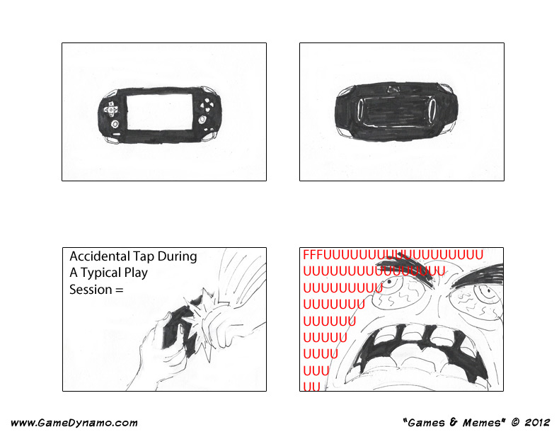 Games & Memes Comics: Rage Issues with the Vita's Back Touch Panel