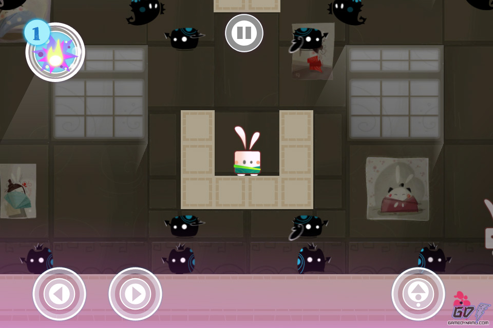 After all, what other iOS platformer has monsters chuckling maniacally