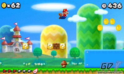 New Super Mario Bros. 2 (Nintendo 3DS) Hands-On Preview Screenshots