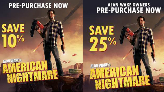 Alan Wake's American Nightmare discount and PC announcement trailer (Remedy, Microsoft)