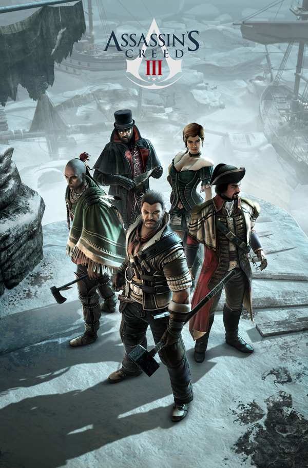 Assassin's Creed III team multiplayer key art (Ubisoft,PC, PS3, Xbox, 360, Wii U)