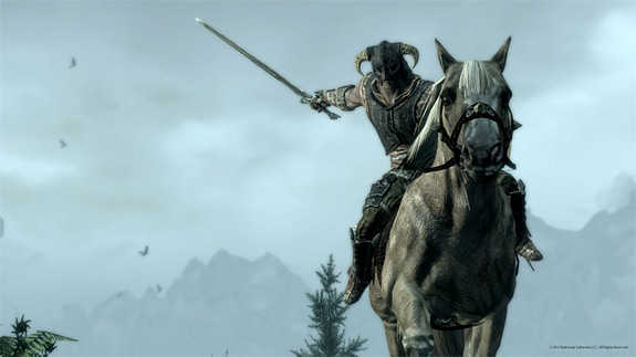 The Elder Scrolls V: Skyrim adds mounted combat in update 1.6 (Bethesda, PC, PS3, Xbox, 360)