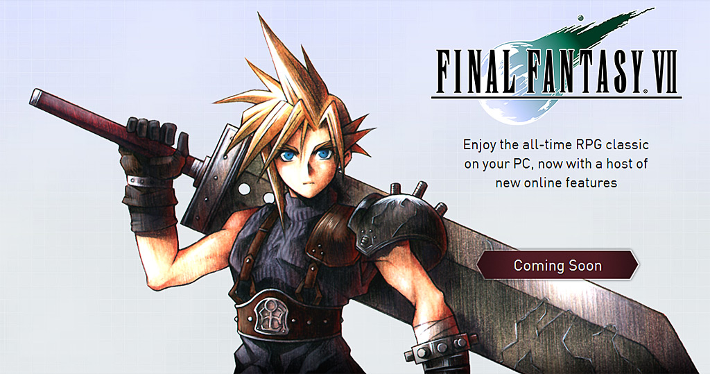 Final Fantasy VII for PC announcement, screenshots, and trailer (FF7, Square Enix)