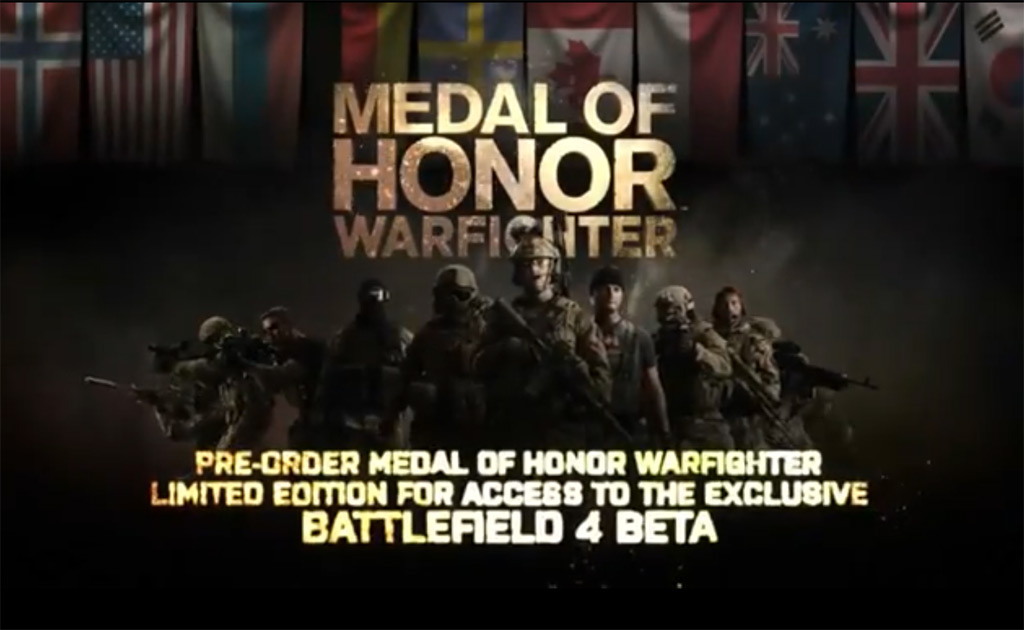 Battlefield 4 beta access with Medal of Honor Warfighter Limited Edition purchase (EA, DICE)