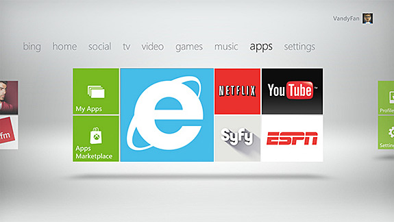 Microsoft Internet Explorer 9 on Xbox 360 will use Kinect and Bing