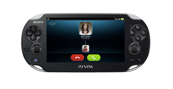 Skype app for Sony PlayStation PS Vita