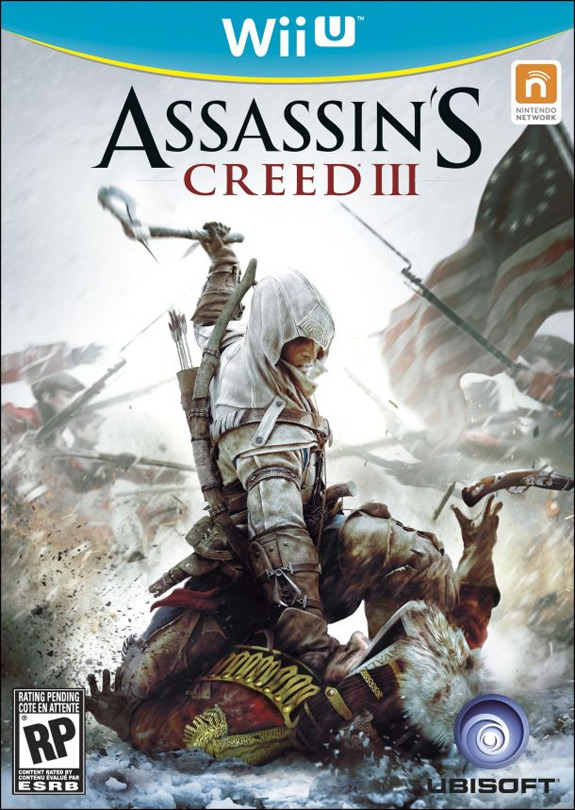 Assassin's Creed III box art for Nintendo Wii U (Ubisoft)