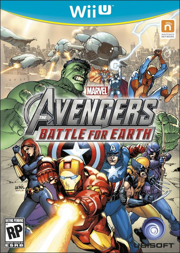 Wii U box art for Marvel The Avengers: Battle for Earth