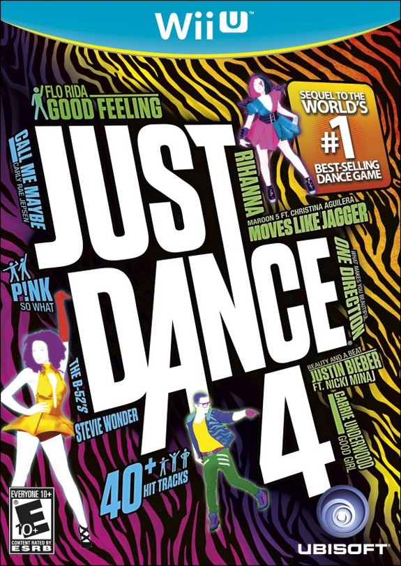Wii U box art for Just Dance 4