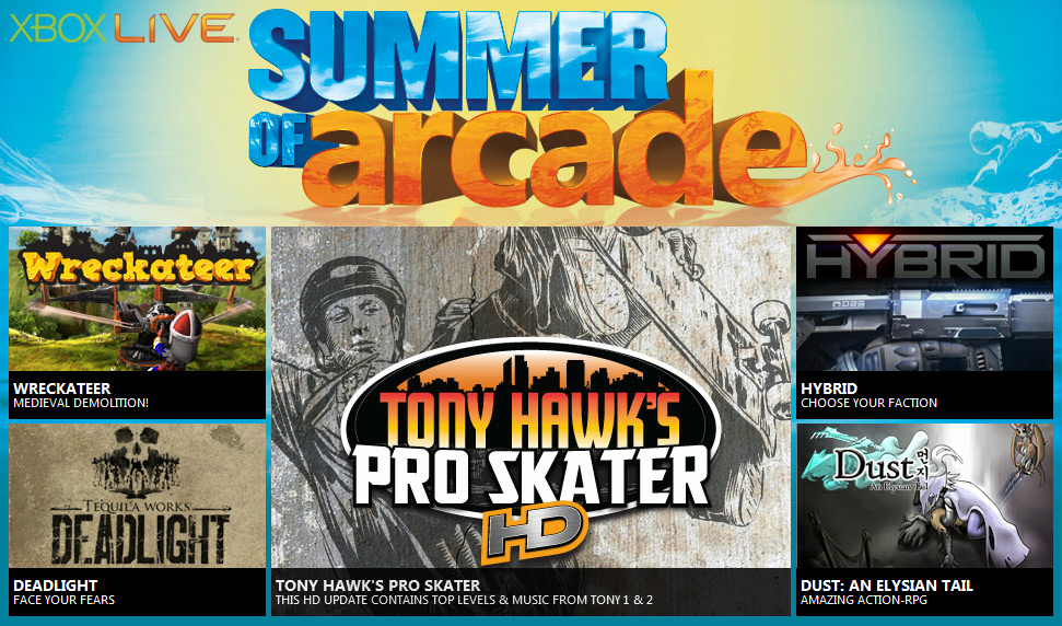 Microsoft Xbox LIVE Summer of Arcade schedule and pricing (Xbox 360, X360)