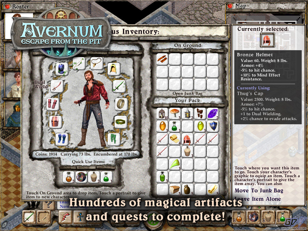 Avernum: Escape From the Pit HD (iPhone, iPod, iPad, iTunes, iOS, Mobile) Review Screenshots