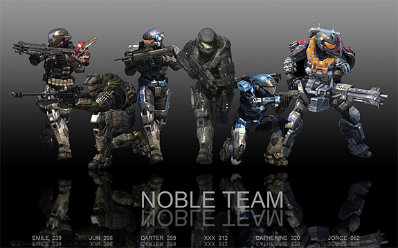 Top 5 Most Irritating Video Game Sidekicks - Noble Team (Halo: Reach)