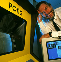 Nolan Bushnell and his Pong arcade