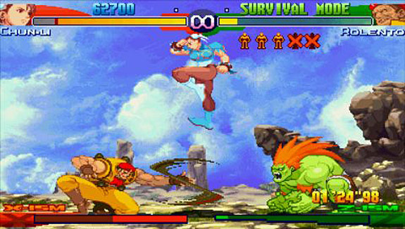 Top 10 Higher-Profile PSP Games You Need to Download for PS Vita - Street Fighter Alpha 3 Max