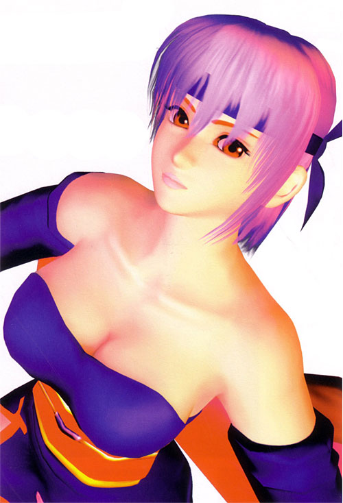 Top 10 Ridiculous Displays of Cleavage in Video Games - Ayane, Dead or Alive 4 (Xbox 360)