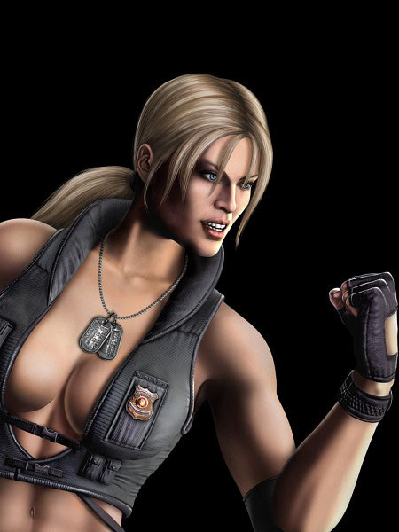 Top 10 Ridiculous Displays of Cleavage in Video Games - Sonya Blade, Mortal Kombat (Xbox 360 / PS3)