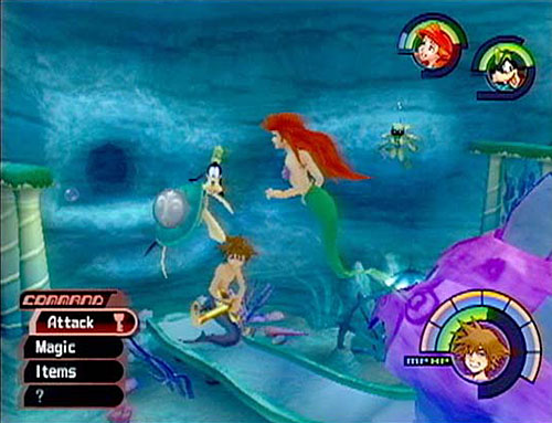 Top 10 Underwater Video Game Levels - Atlantica, Kingdom Hearts
