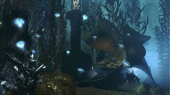 Top 10 Underwater Video Game Levels - The Outsides of Rapture, BioShock 2
