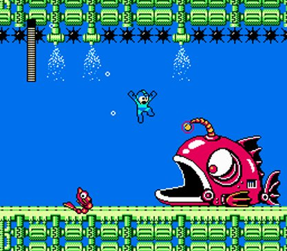 Top 10 Underwater Video Game Levels - Bubble Man's Stage, Mega Man 2 (NES)