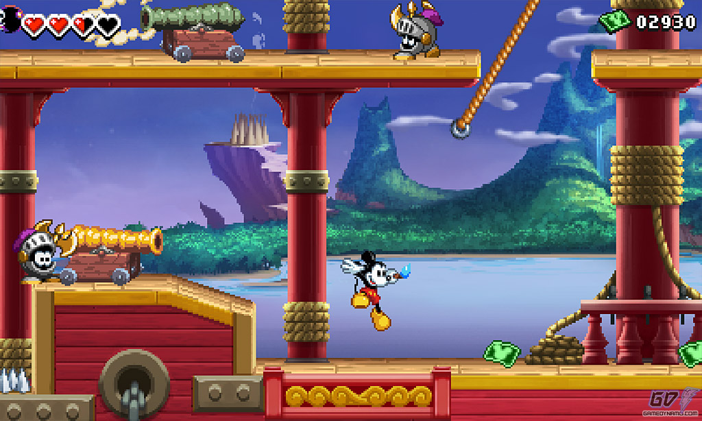 how to jump higher in mickey mouse castle of illusion