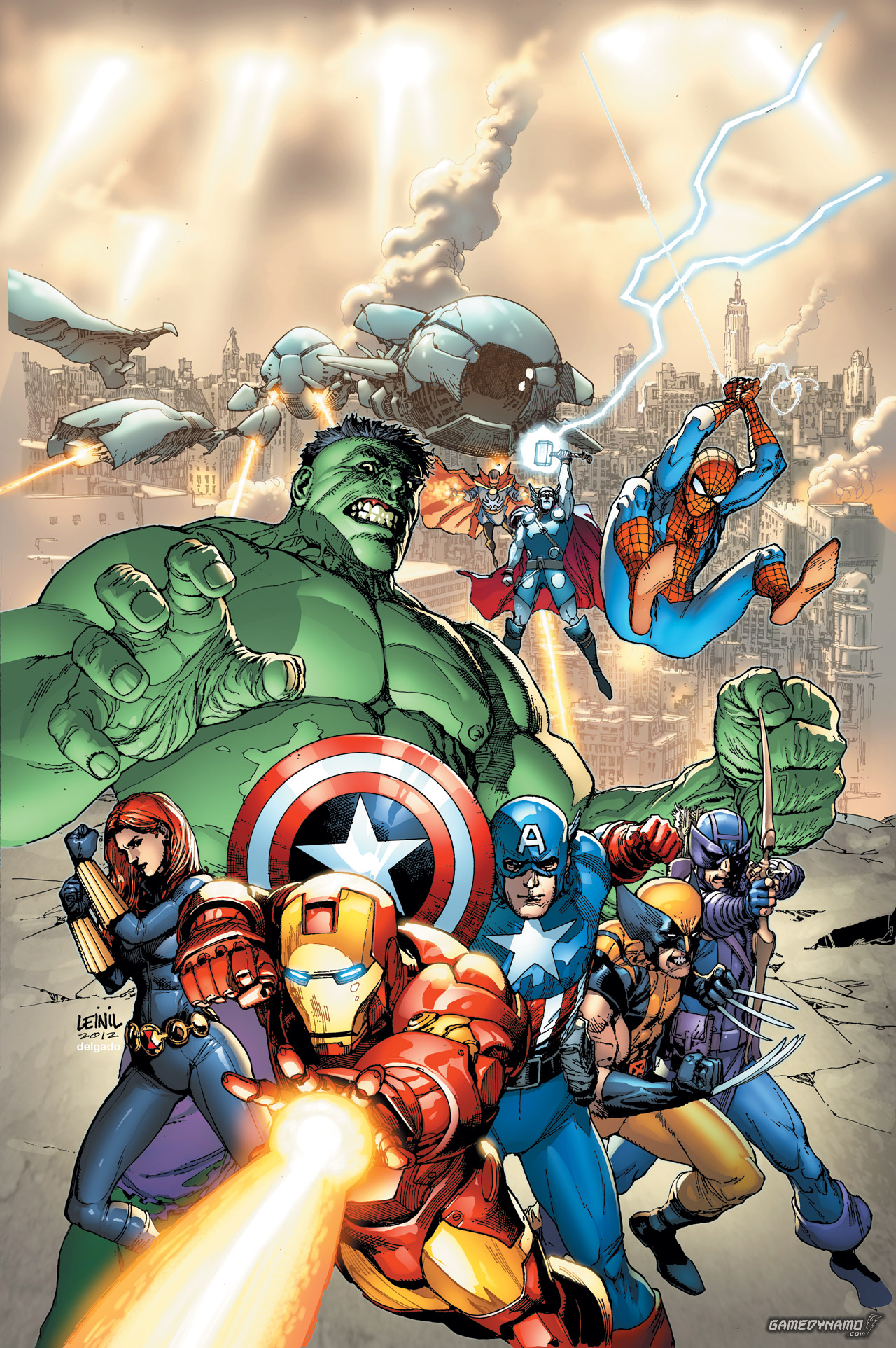 Marvel The Avengers: Battle for Earth key art (Ubisoft, Wii U, Xbox 360)