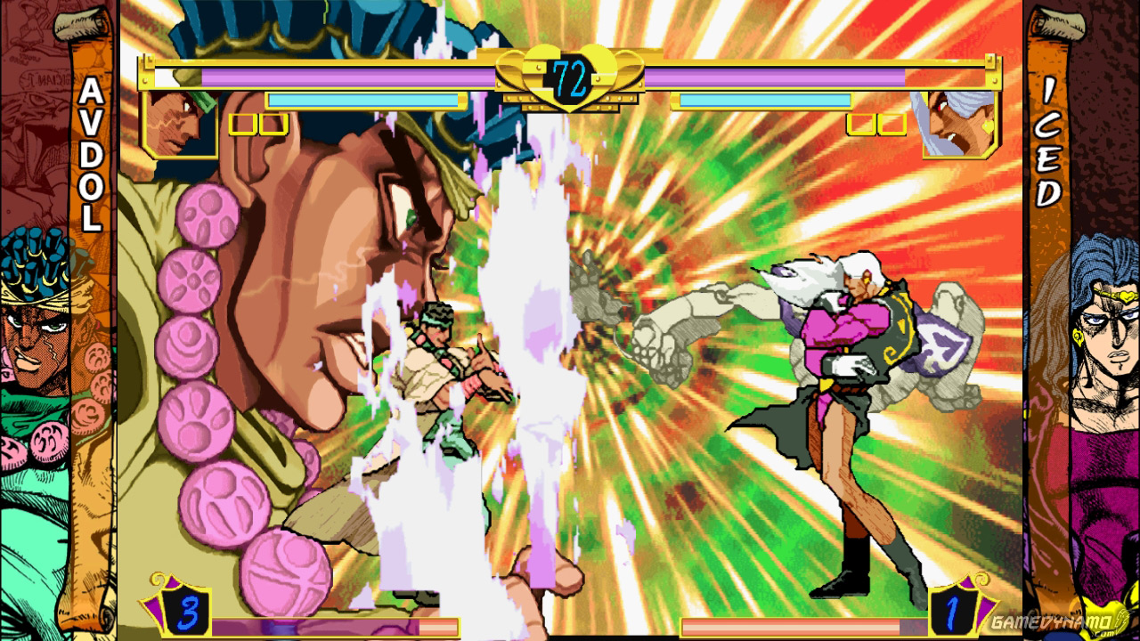 JoJo's Bizarre Adventure HD Ver. screenshots (Capcom, PS3, Xbox, 360)