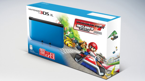 New 3DS XL bundle packs in Mario Kart 7; European 3DS XL owners get free game through eShop